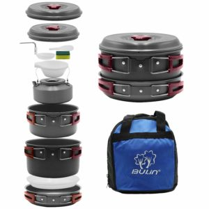 Bulin Camping Nonstick Lightweight Cookware Mess Kit for Picnic and Family Hiking