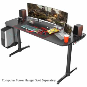 EUREKA ERGONOMIC 60 inches Computer Gaming Desk with Fiber Texture Surface