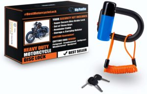 BigPantha Anti-Theft Heavy Duty Motorcycle Disc Lock (Blue)