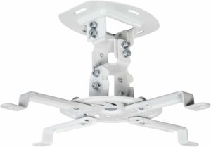 VIVO Universal Adjustable MOUNT-VP01W White Ceiling Projector Mount
