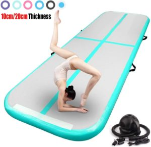 FBSPORT Inflatable Air Track with Pump Tumbling Mat for Cheerleading, Training, Home Use