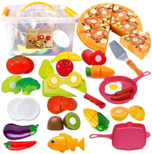 FUNERICA Cutting Toy Food Pretend Play set for Kids Accessories Set
