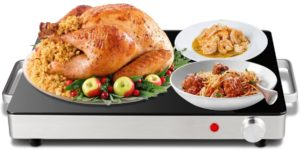 Giantex Warming Tray with Safe Cool Side Handles and Overheat Protection