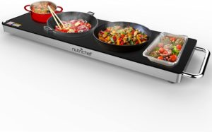 NutriChef Electric Food Hot Plate Portable Warming Tray